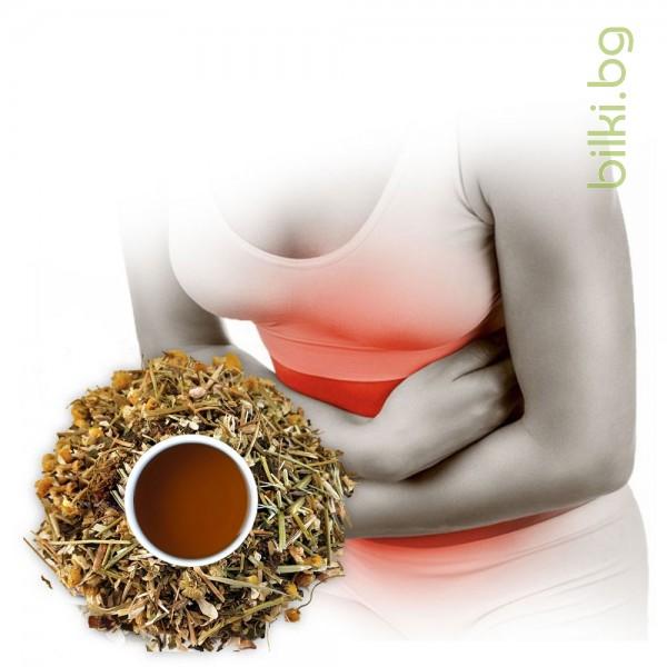 чай при газове, метеоризъм билки, билки антиколит, билков чай