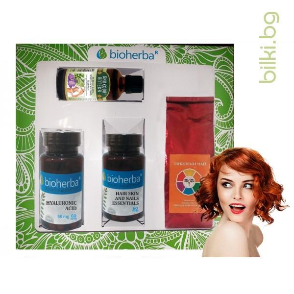 пакет, bioherba,подкрепа, красотата коса, кожа, нокти, тинктура