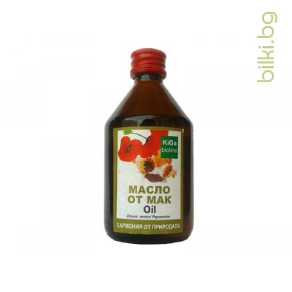 Масло от маково семе, KiGa bioline, 100 мл.