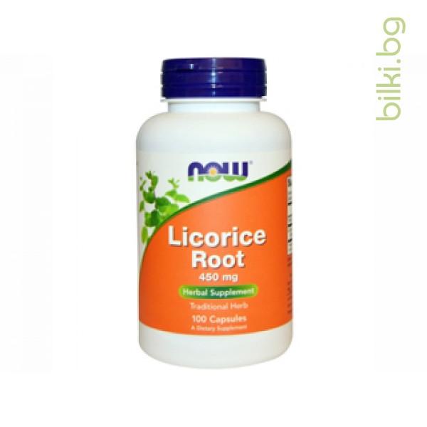 сладък корен,licorice root,now foods,добро храносмилане,
