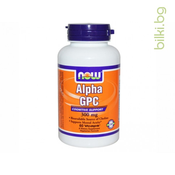 Alpha GPC,now foods,източник на холин,мозъчната дейност