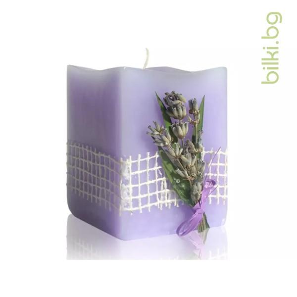 свещ, ароматерапия, лавандулов цвят, лавандула