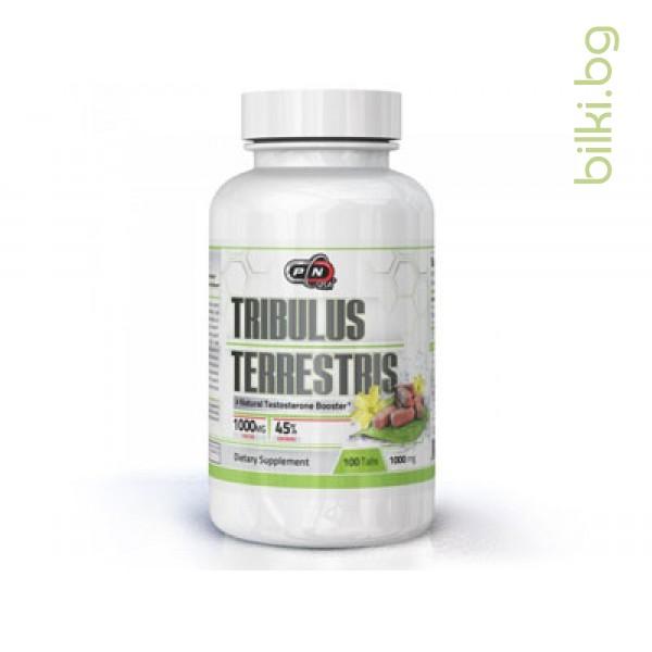TRIBULUS TERRESTRIS /ТРИБУЛУС ТЕРЕСТРИС/, 1000 мг, 100 капсули, Pure Nutrition, HealthSore