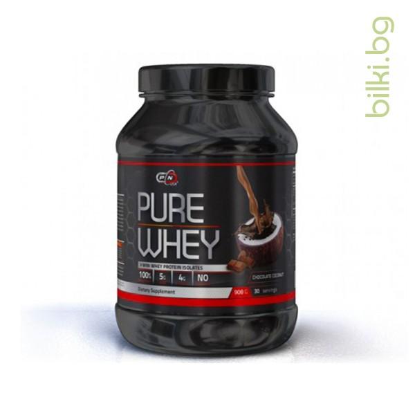 pure whey, chocolate cocnut+enzymes, протеини