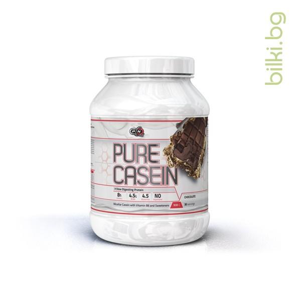 pure casein double chocolate, 908 гр, протеини