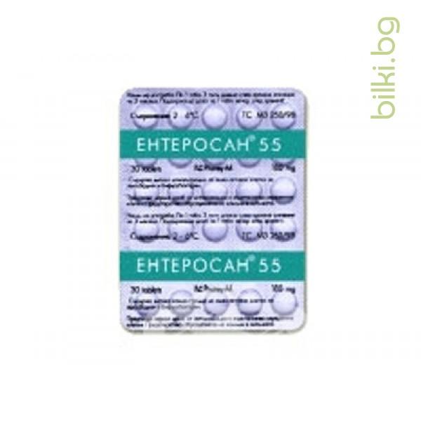 enterosan,ентеросан,55,таблетки,черния,дроб,жлъчката,предпазва,образуването,камъни,понижава,амоняка,кръвта,