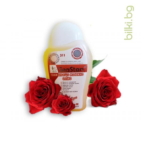 тонизиращо масажно олио red rose, seastars