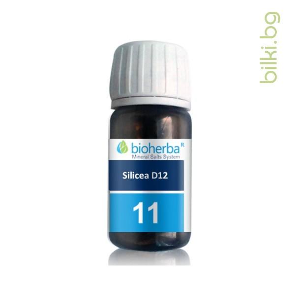 шуслерова сол, сол №11 silicea d12, силицея