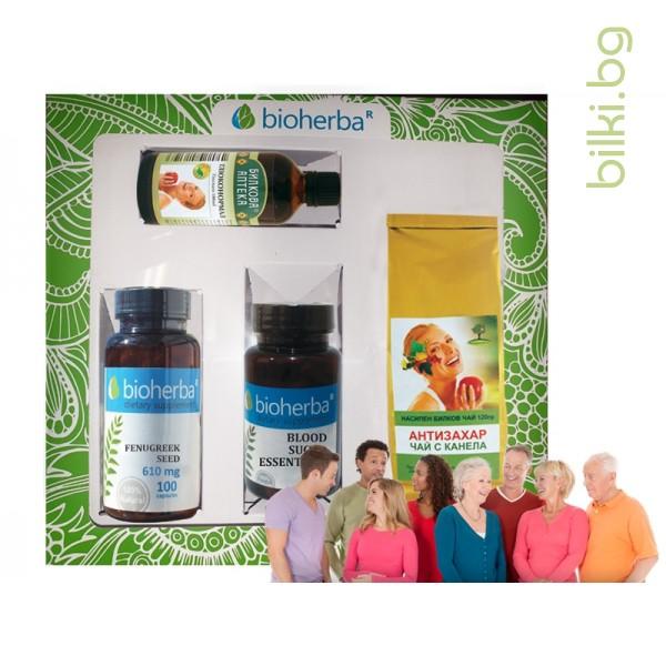 пакет, bioherba,подкрепа при диабет, формула, кръвна захар