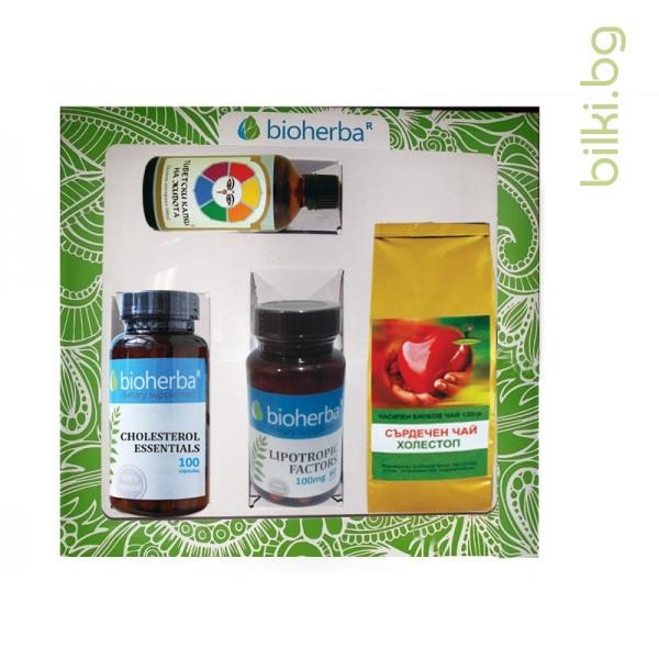 пакет, подкрепа при холестерол