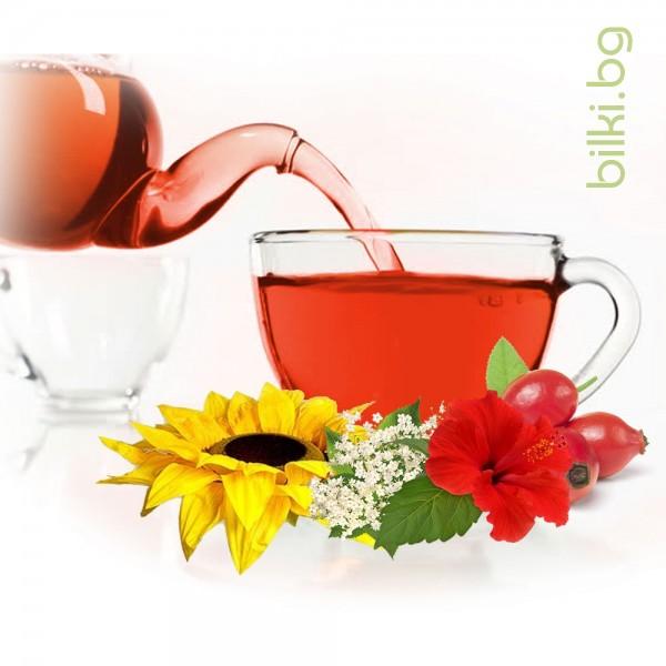 плодов чай, чай с хибискус, хибискус, чай от полодове, ароматен чай, ароматен чай,  билков чай, плодов чай с хибискус цена
