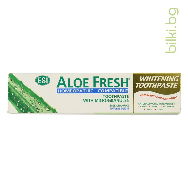 паста за зъби, алое фреш, хомеопатична, зъби