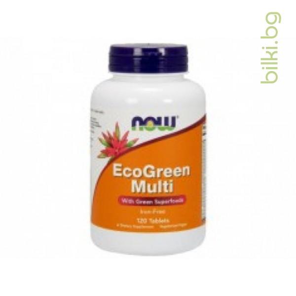 мултивитамини за възрастни,мултивитамини,eco green multi,now foods