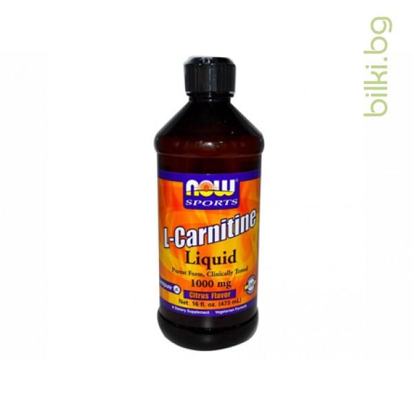 течен, л-карнитин,liquid l-carnitine,now foods