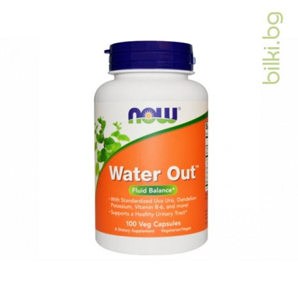 water out,билков диуретик,now foods,течности от тялото