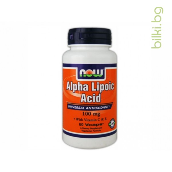 алфа липоева киселина,alpha lipoic acid,now foods