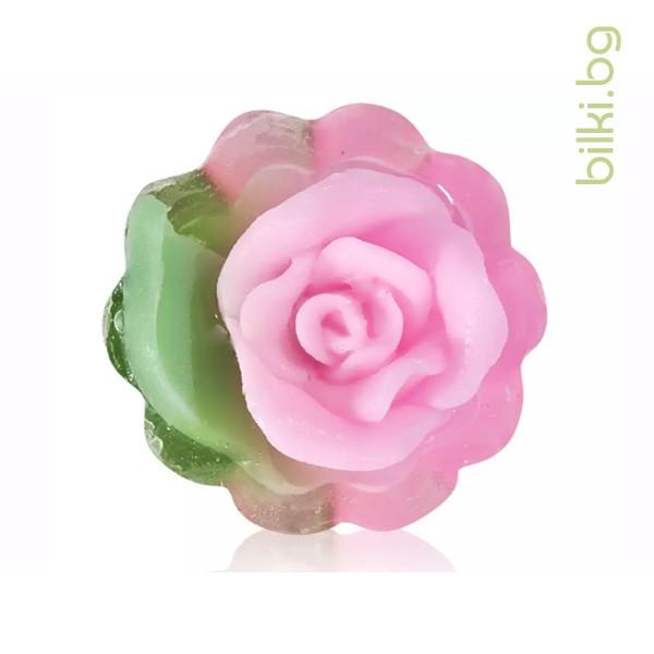 глицеринов сапун, rose fantasy, кошничка,циклама