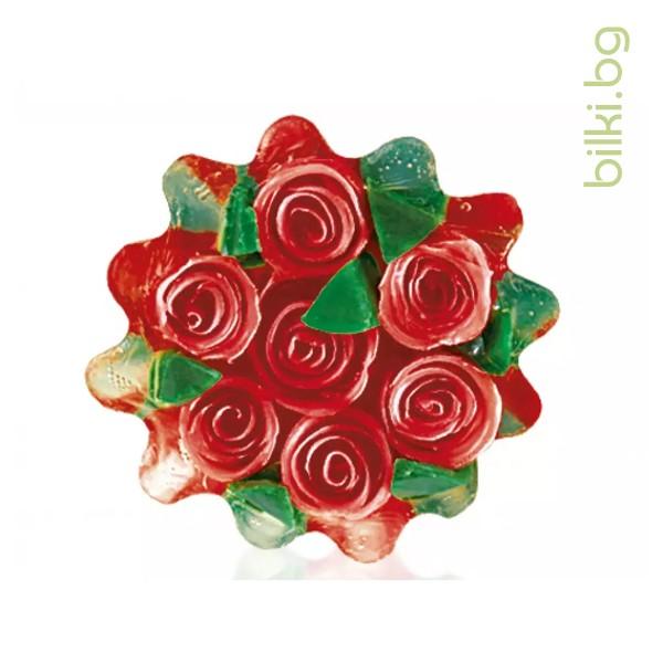 глицеринов сапун, rose fantasy, кошница, червен
