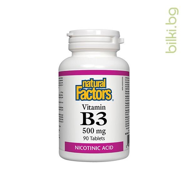 витамин b3, ниацин, natural factors, нервна система