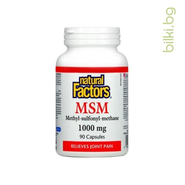 МСМ, 1000 мг, 90 капсули - Bilki.bg