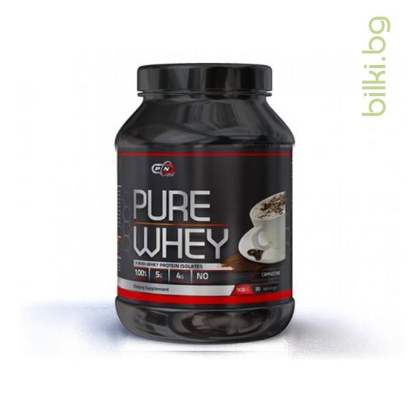 pure whey cappuccino, 908 гр, протеини