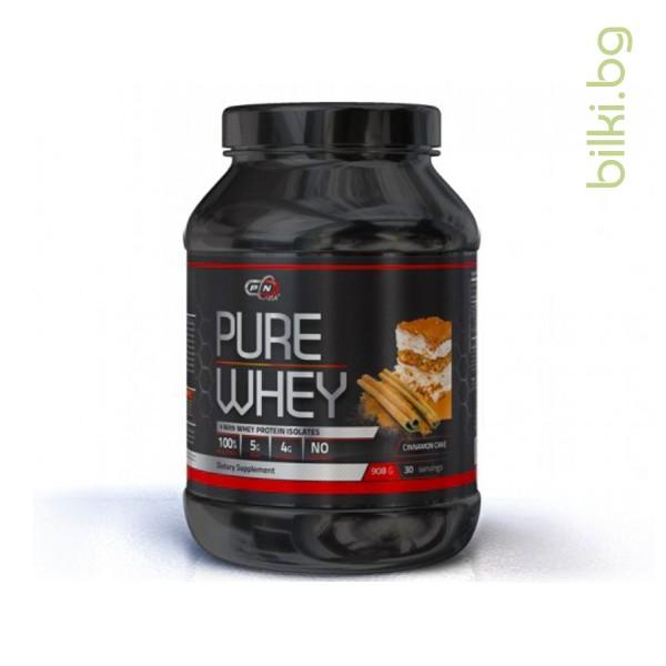 pure whey cinnamon cake, протеини