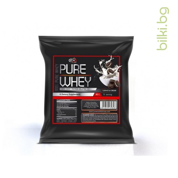 pure whey vanilla icecream, 30g, протеини