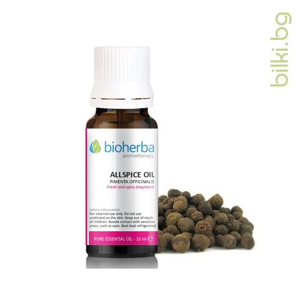 масло от бахар, бахар, pimenta officinalis oil, качествени етерични масла