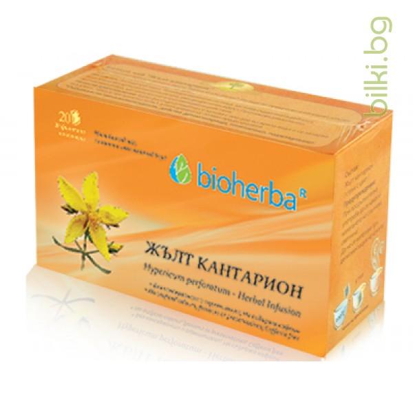 жълт кантарион, трапезен филтърен чай
