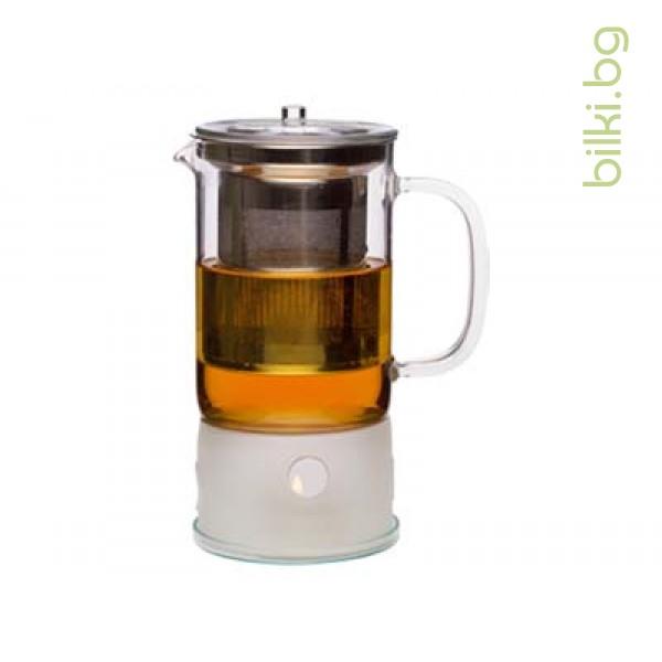 SIGN чайник 0.6л с мет.филтър и подгревател-Йена