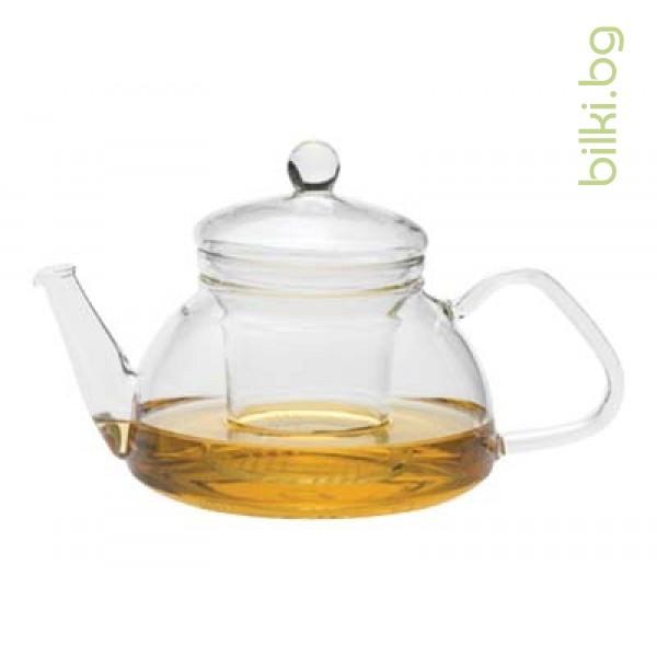 THEO G чайник 0,6 л с капаче и филтър от стъкло