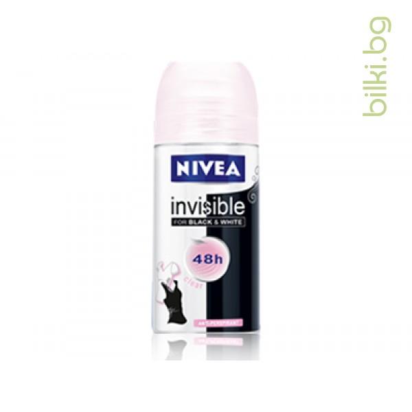 NIVEА ДЕО INVISIBLE BLACK&WHITE ДАМСКИ РОЛ-ОН,50мл