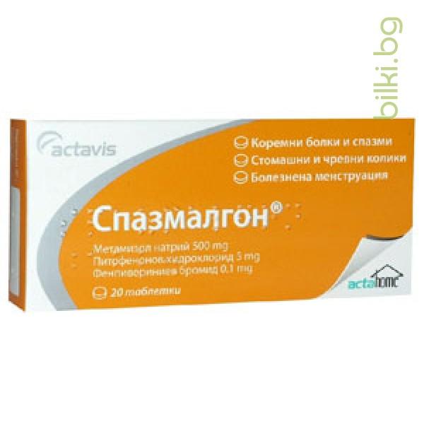 СПАЗМАЛГОН 20 тблетки - при коремни болки