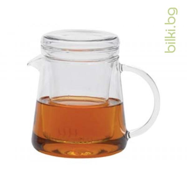 FOR TWO чайник 0.4 l с капаче и филтър от стъкло