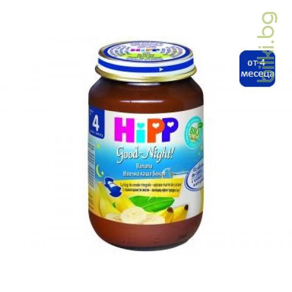 хип млечна каша лека нощ с банани
