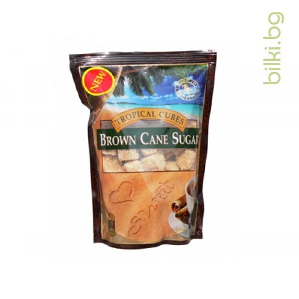 тропически кубчета кафява захар