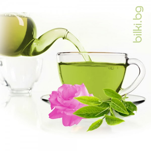 зелен чай, билков чай, зелен чай с розов цвят, зелен чай цена