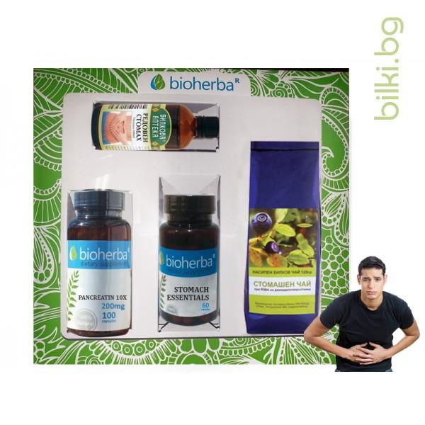 пакет, bioherba, подкрепа на стомаха, тинктура