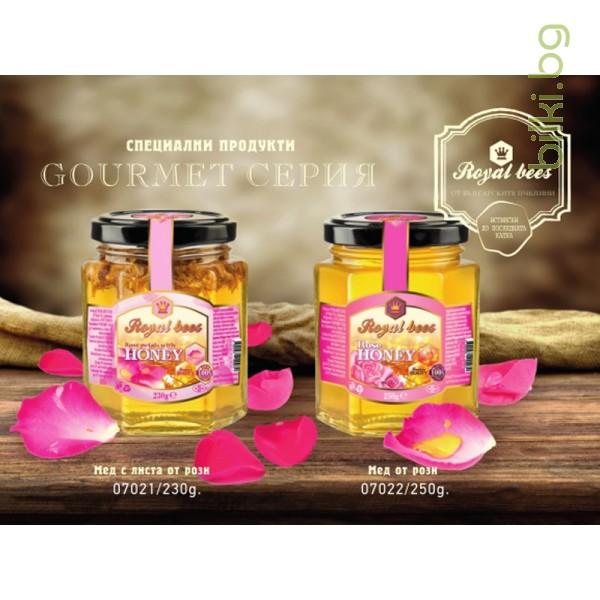 мед от маслодайна роза, мед от рози цена, пчелен мед от рози