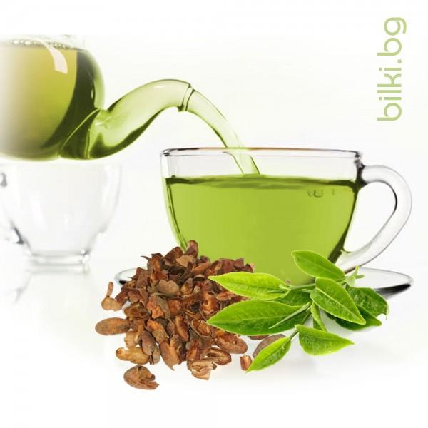 зелен чай, зелен чай с какаови зърна,чай от какаови зърна