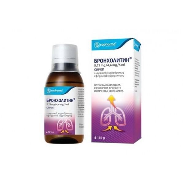 бронхолитин, сироп, дихателни пътища, софарма