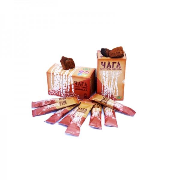 chaga, siberian chaga, чага, сибирска чага, гъба чага, лате с чага, топъл шоколад, айс лате, айс шоколад, имунитет, обмяна, айс лате от чага