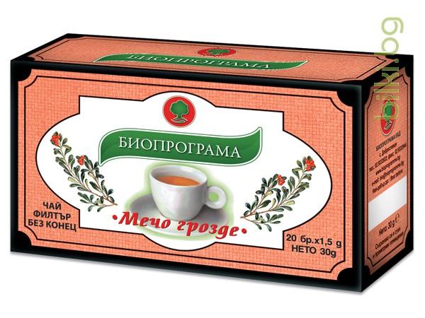 чай, мечо грозде, биопрограма