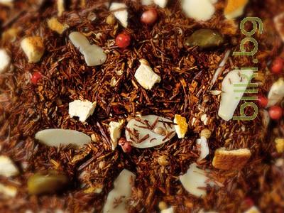ароматен чай ройбос, коледен сладкиш