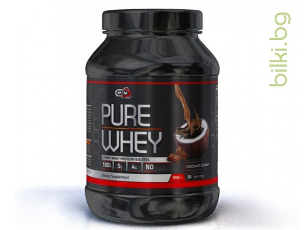 pure whey, chocolate cocnut+enzymes, протеини