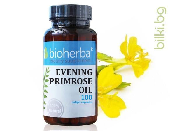 evening primrose, oil, вечерна иглика масло, вечерна иглика