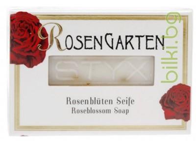 styx, сапун,розова градина