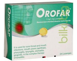 орофар 24, таблетки,фарингити, ларингити, тонзилити