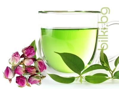 зелен чай, чай зелен,зелен чай с,розов цвят,роза,чай с розов цвят