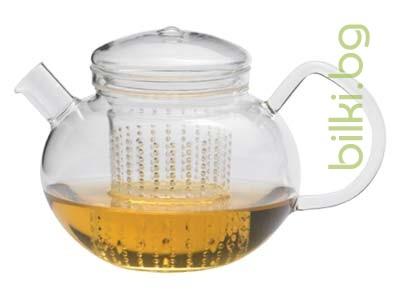 SОМА чайник 0.6 l,капаче от стъкло,акрилен филтър